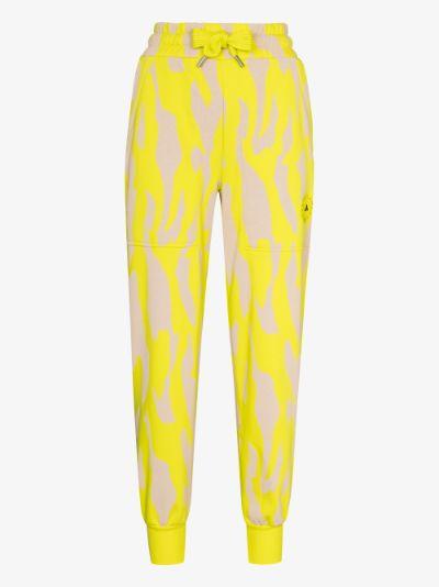 Sportswear college zebra print sweatpants