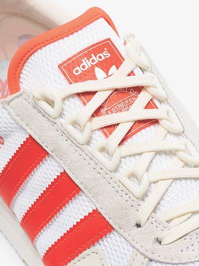 cream SL 80 neon suede low top sneakers