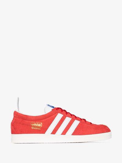 Red Gazelle Vintage Suede Sneakers