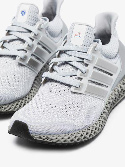 silver Ultra 4D mesh sneakers
