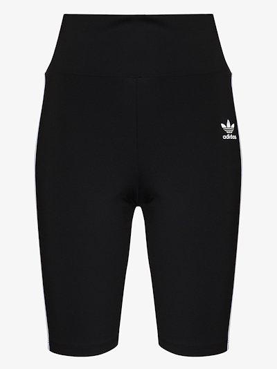 Trefoil 3-stripe cycling shorts