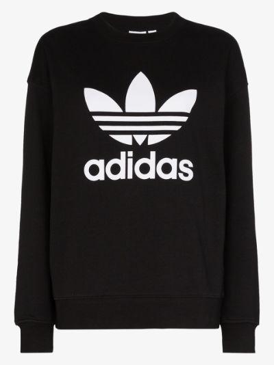 Trefoil Logo Cotton Sweatshirt
