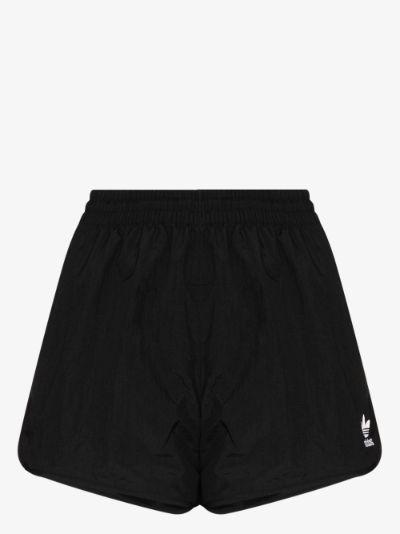 Trefoil logo print shorts