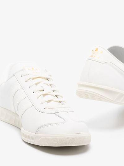 White Hamburg Leather Sneakers
