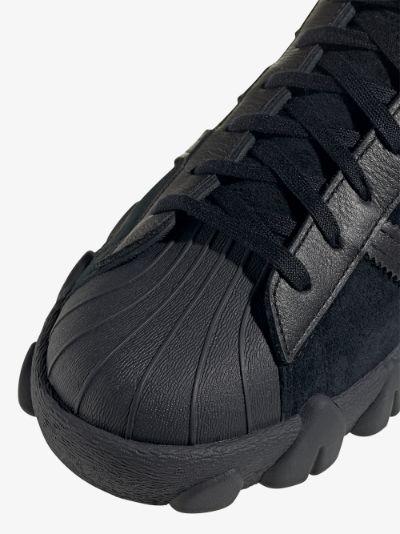 X Angel Chen Black Superstar 80s Sneakers