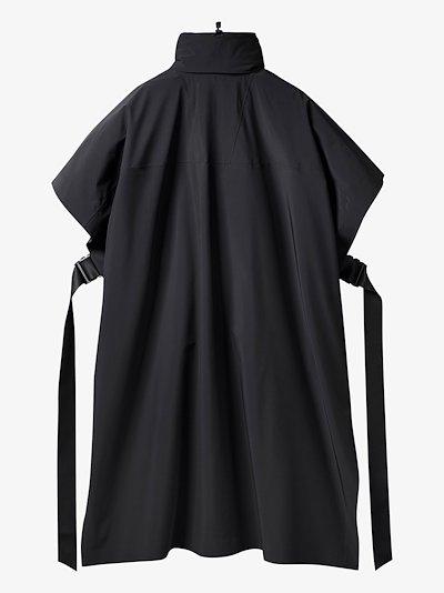 X HYKE high neck cape coat