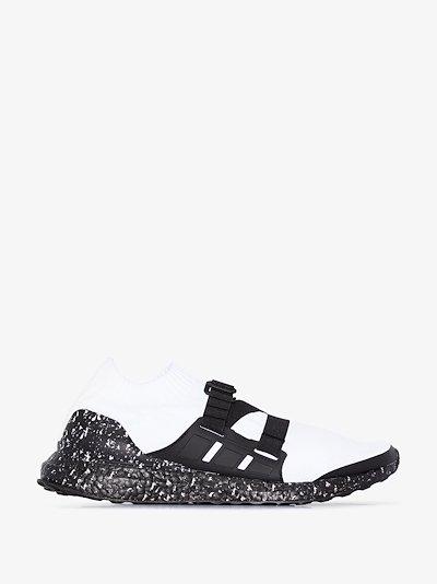 X HYKE white Ultraboost strap sneakers