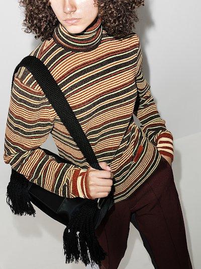 X Wales Bonner striped turtleneck sweater