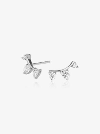 14K white gold Amigos diamond earrings