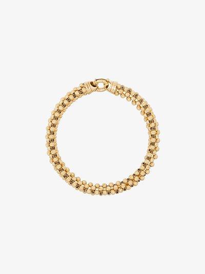 14K yellow gold diamond cut chunky chain bracelet