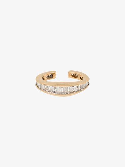 14K yellow gold Heirloom diamond ear cuff