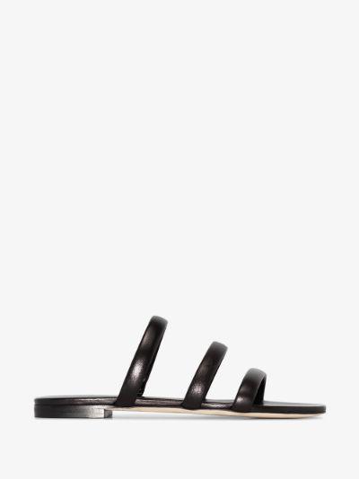 black Chrissy leather sandals