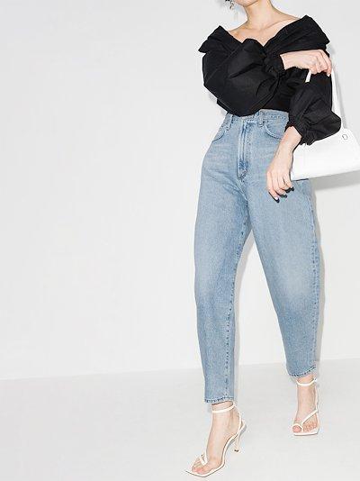 balloon high-rise jeans