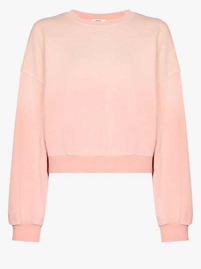 balloon sleeve cotton sweatshirt
