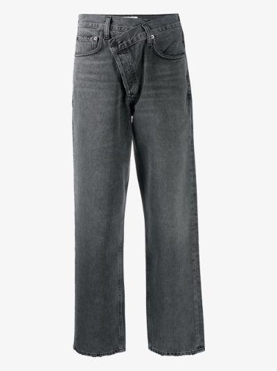 Criss Cross straight leg jeans