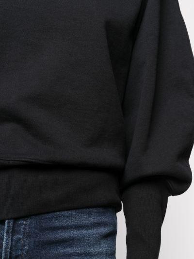 High neck puff sleeve sweatshirt