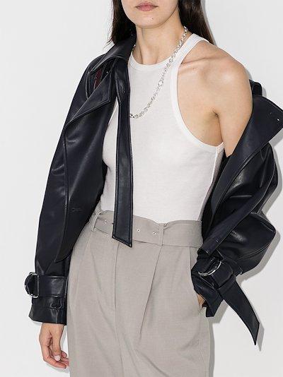 high neck racerback bodysuit