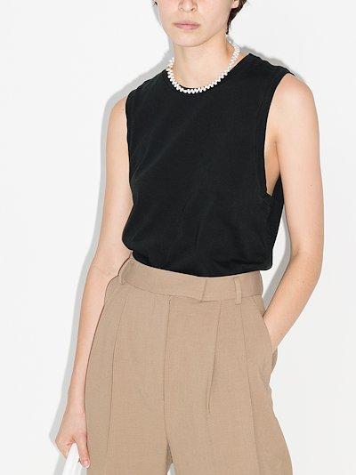 longline sleeveless tank top
