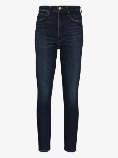 Pinch Waist skinny jeans