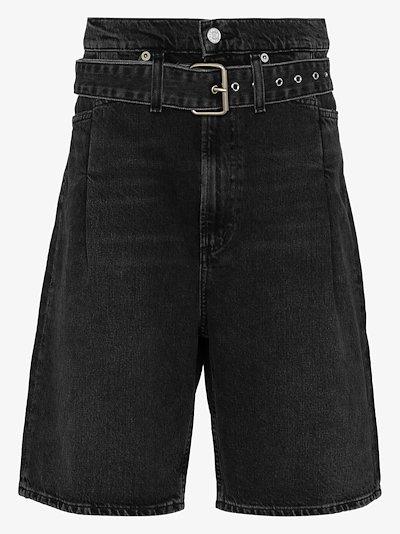 Reworked '90s belted denim shorts