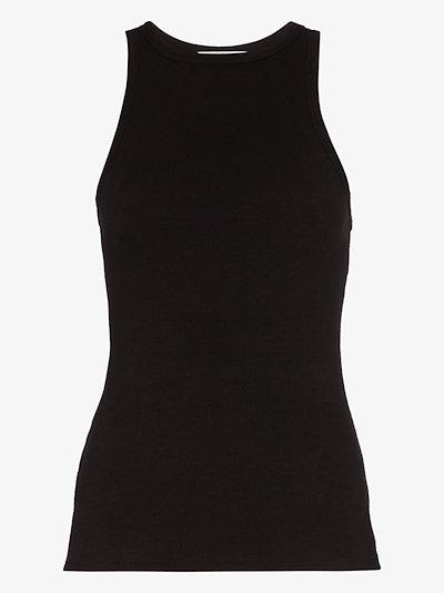 ribbed racerback vest top