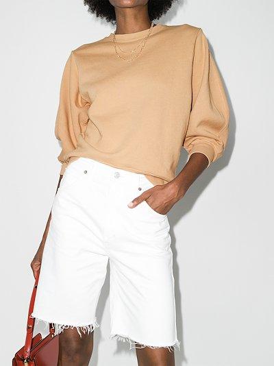 Thora cropped sleeve sweatshirt
