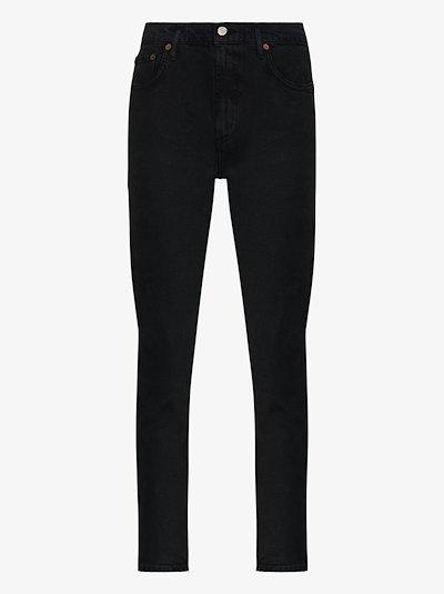 Toni mid-rise straight leg jeans