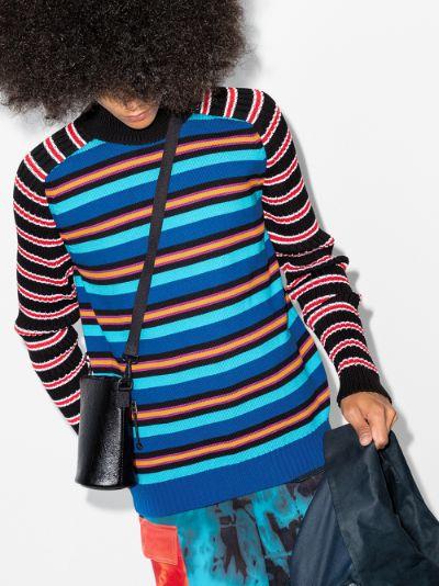 contrast stripe knit sweater