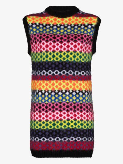 diamond stripe knit dress