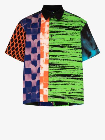 patchwork patterned cotton shirt