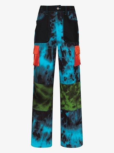 tie-dye cargo trousers