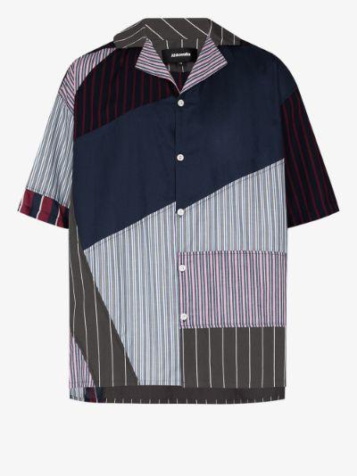 fitzroy contrast print shirt