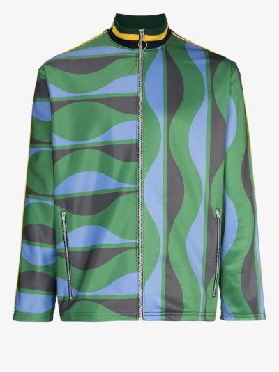 Joy Wavy zip-up track jacket