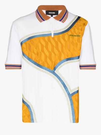 Row wavy polo shirt