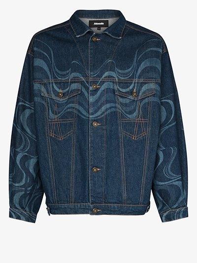 Wave Effect Denim Jacket