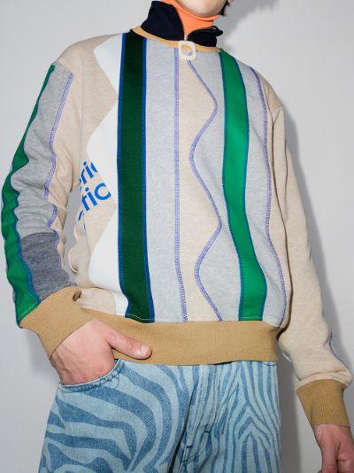 zigzag panelled sweatshirt