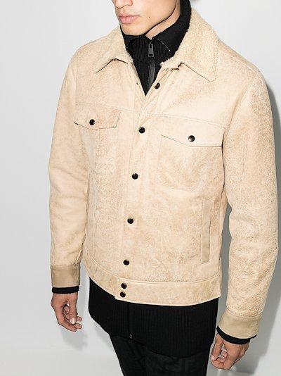 Cervino suede shearling jacket