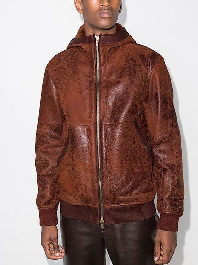 Lacon hooded leather jacket