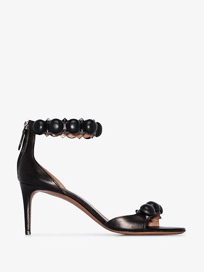 black Bombe 75 stud strap sandals