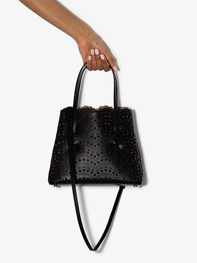 black Vienne Mina leather tote bag