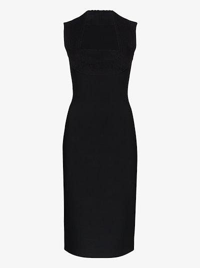 Chromatique sleeveless pencil midi dress