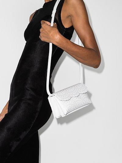 white Lulu 19 mini leather shoulder bag