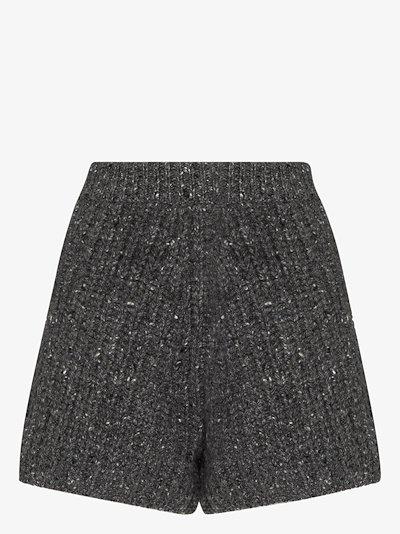 Fancy ribbed knit shorts