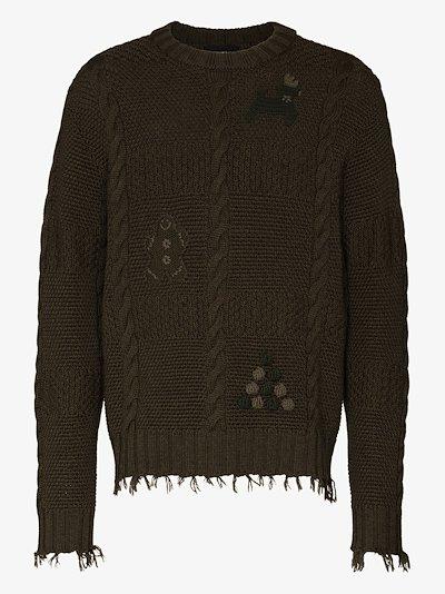 Stitch-mas wool sweater