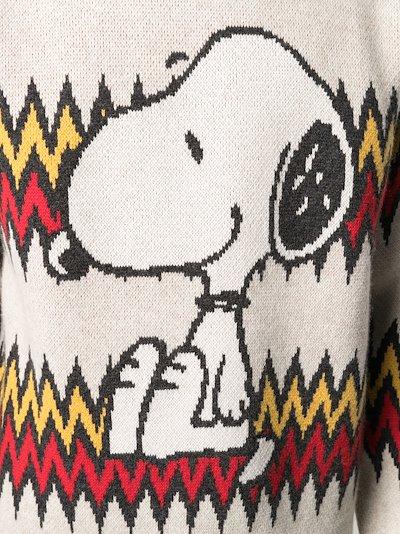 X Peanuts Snoopy Plays Harmonica sweater