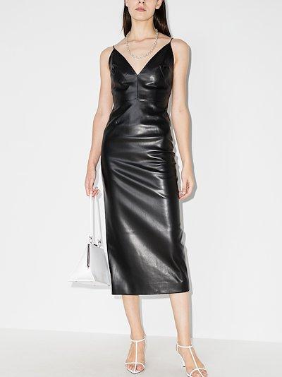 fitted midi slip dress