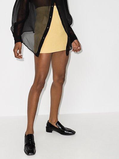 high waist cotton mini skirt