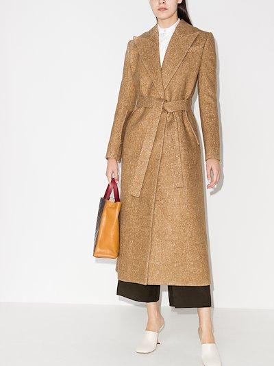 tie waist long coat