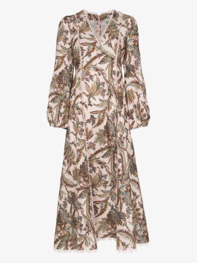 Estella printed midi dress