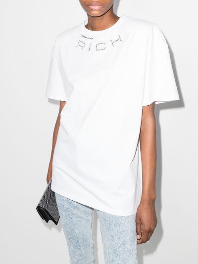 crystal embellished logo T-shirt